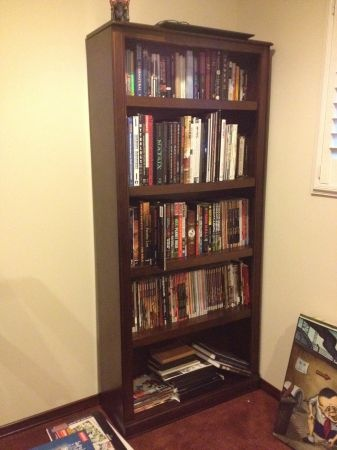 2 Dark Brown Bookcases from Living Spaces- New!!  Price: $225   by CL