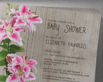 15 best calla lily bridal shower invitations images on pinterest rustic stargazer lily baby shower invitation filmwisefo
