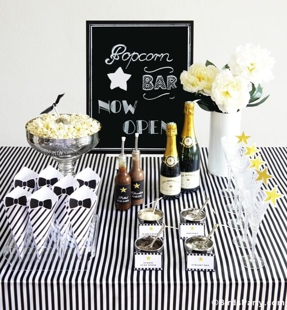 Awesome popcorn bar at a Movie Night party! See more party ideas at CatchMyParty.com!
