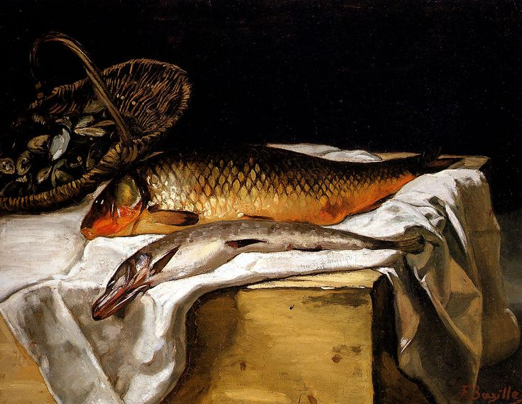 Frederic Bazille — Still Life with Fish, 1866, Frederic...