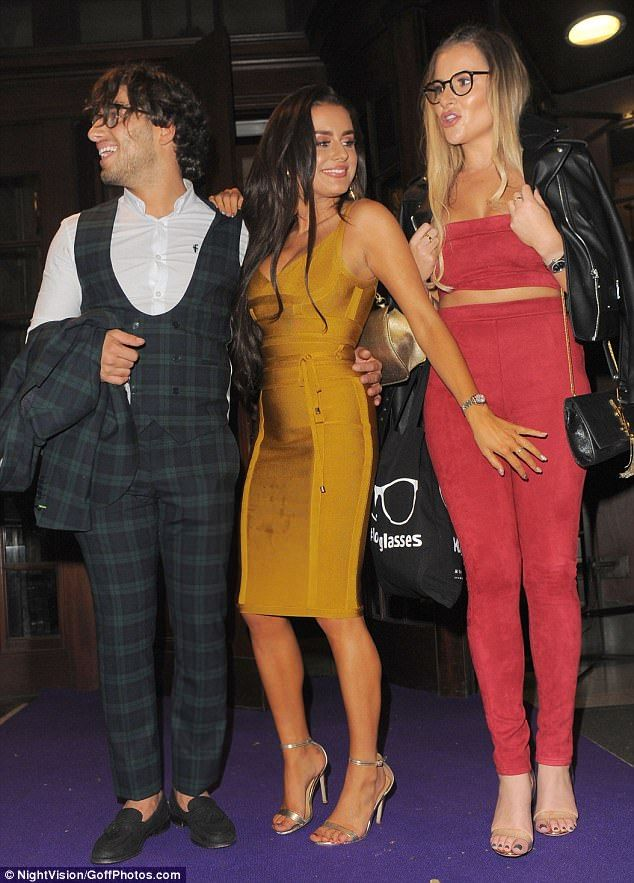 New job: The duo's outing with the TOWIE cast could possibly hint at a new job role...