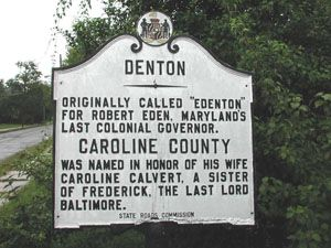 Denton Denton, Caroline County MD 619 (6th Street) at 5th Street, triangle just south of Fountain