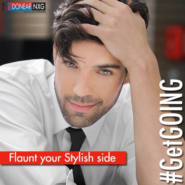 Flaunt your stylish side with Donear NXG  #GetGOING #fashion #men #clothing