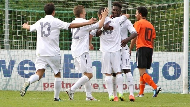 Ten talents to track from Under-19 finals - Jean-Christophe #Bahebeck (No11) celebrates with his team-mates