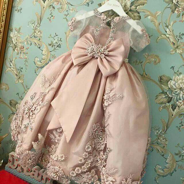 Pink ball gown with embellishments for your little diva