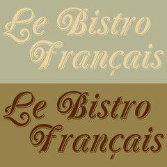 Le Bistro Francais Lettering Stencil