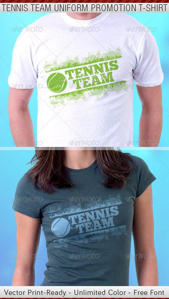 Tennis Team Uniform T-Shirt Template - DOWNLOAD NOW
