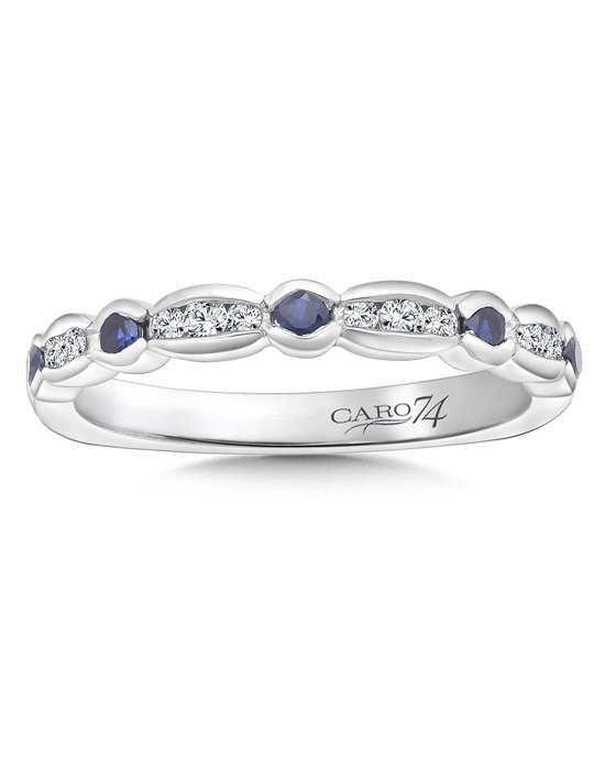 Caro 74 CR742BW-BSA White Gold Wedding Ring