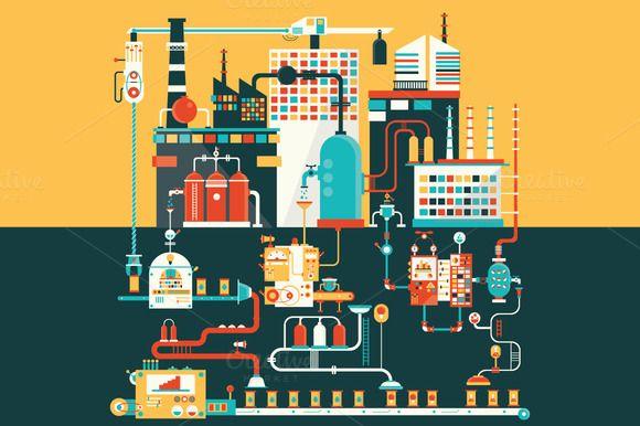 Oil factory  by Semenhorosh on @graphicsmag