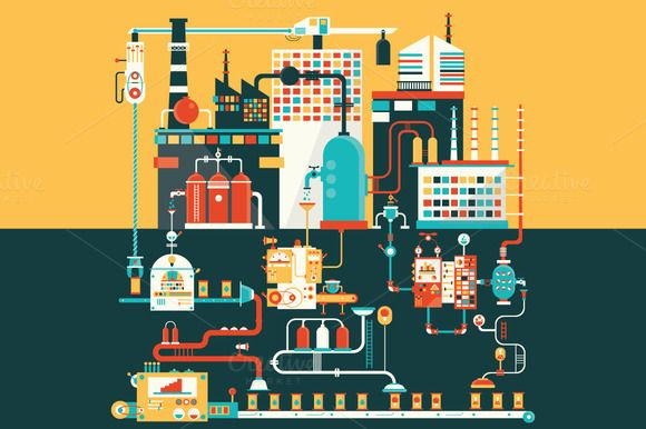 Oil factory  by Semenhorosh on @graphicsmag