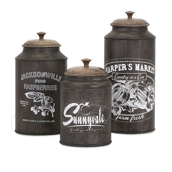 Farmhouse Kitchen Canister Sets: Vintage, Kitchen Retro And