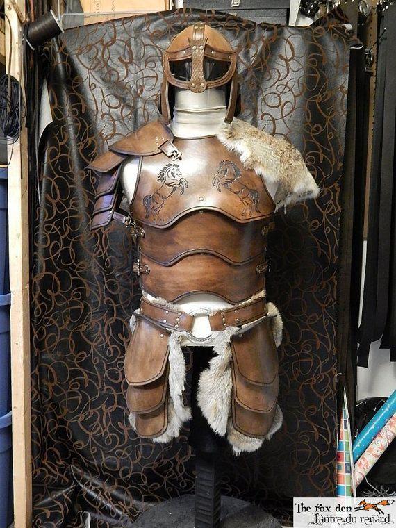 Armor set ''The rider'', full set with helmet, LOTR rohan inspired, LARP, cosplay