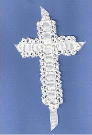 Religious Crochet Pattern,Thread Cross Bible Bookmark, Lace Shell Cross