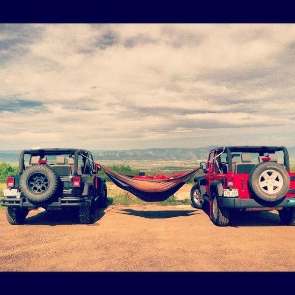 Jeep. Hammock. Jeep.Buckets Lists, Jeeps Things, Hammocks, Camps, Jeeps Life, Travel, Roads Trips, Dreams Life, Jeeps Wranglers