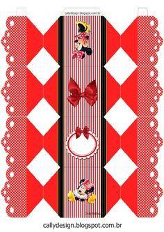 CALLY'S  DESIGN-Kits Personalizados Gratuitos: Kit de Personalizados Tema Minnie…