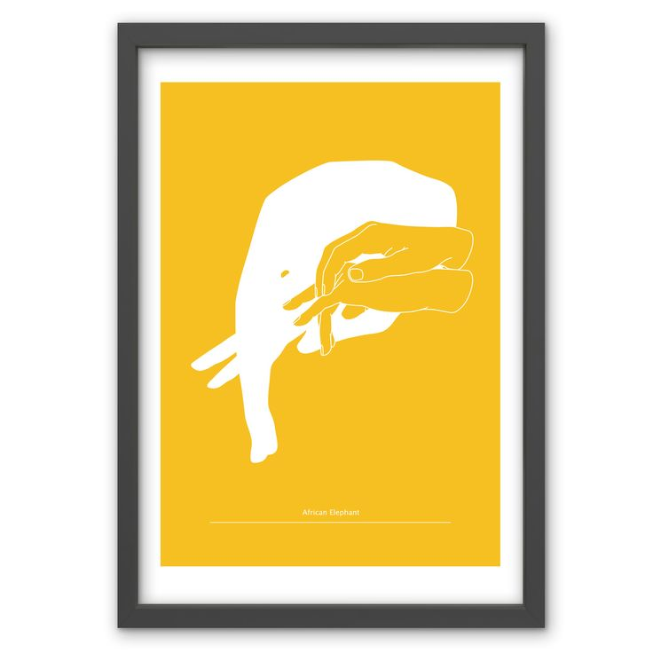 African Elephant in Mustard Yellow - Hand pulled screen print. 50cm x 70cm / 19.6 inches x 27.5 inches. 100% recycled archival quality paper. Printed using water based archival quality eco inks. £40 www.toddjarvis.co