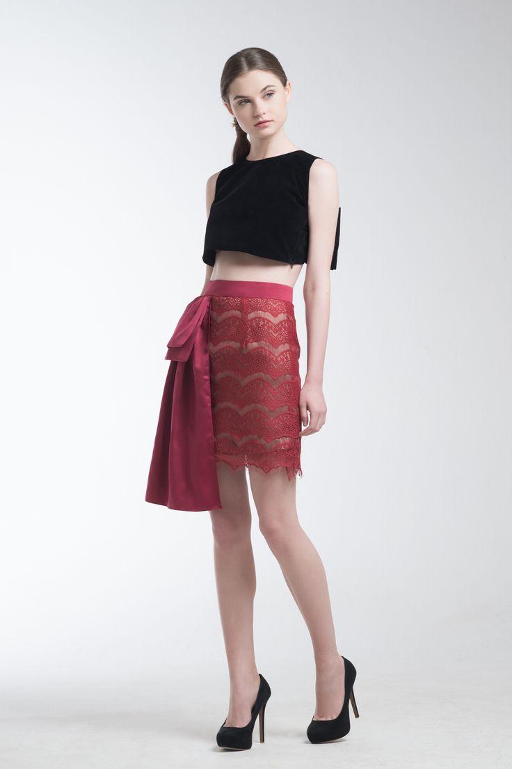 Lana Crop Top and Illona Skirt from Jolie Clothing  #JolieClothing www.jolie-clothing.com  #Fashion #designer #jolie #Charity #foundation #World #vision #indonesia  #online #shop #stefanitan #fannytjandra #blogger