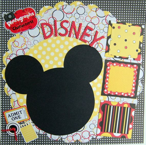 #papercraft #scrapbook #layout #disney scrapbook page