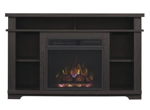 "ChimneyFree™ 44"" Morland Electric Fireplace Entertainment Center in Black Walnut at Menards"