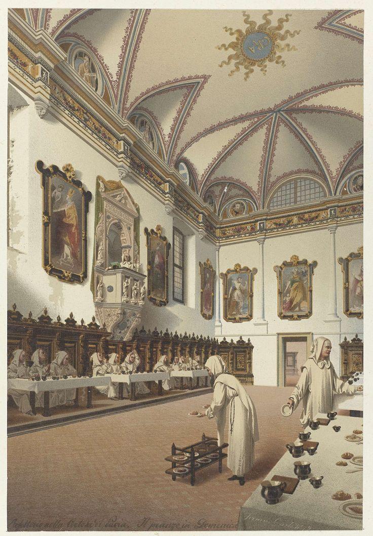 Carlo Ferrario | refettorio nella Certosa di Pavia. Il pranzo in Domenica, Carlo Ferrario, 1872 |