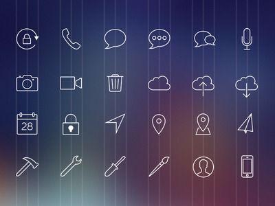iOS 7 Icons — Designspiration