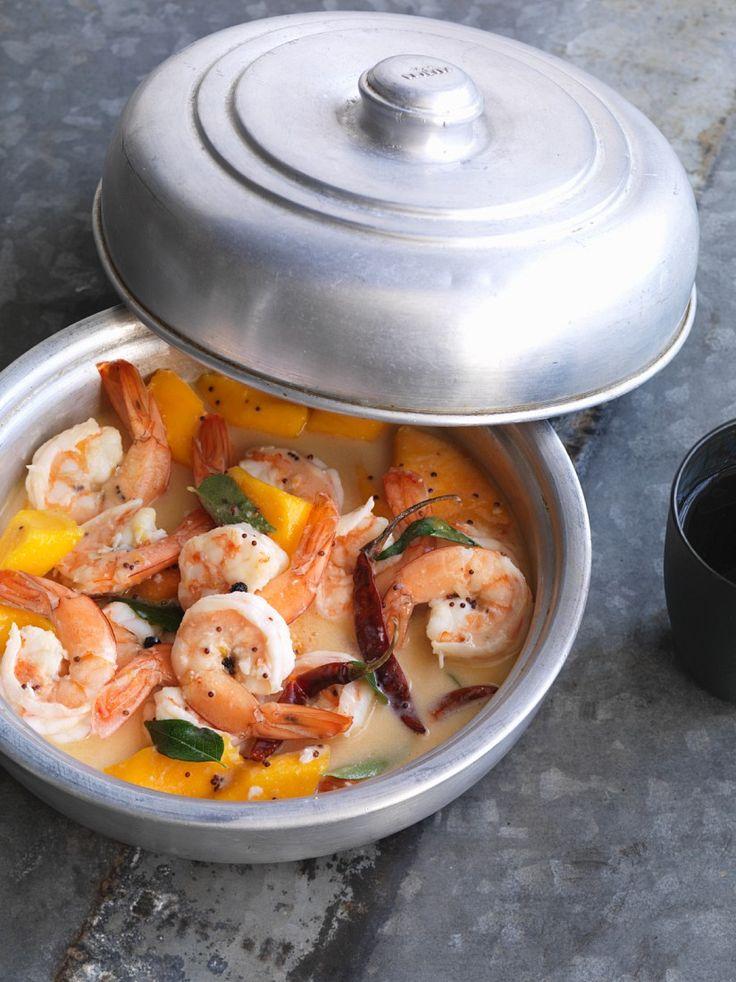 Garnelen-Curry mit Mango