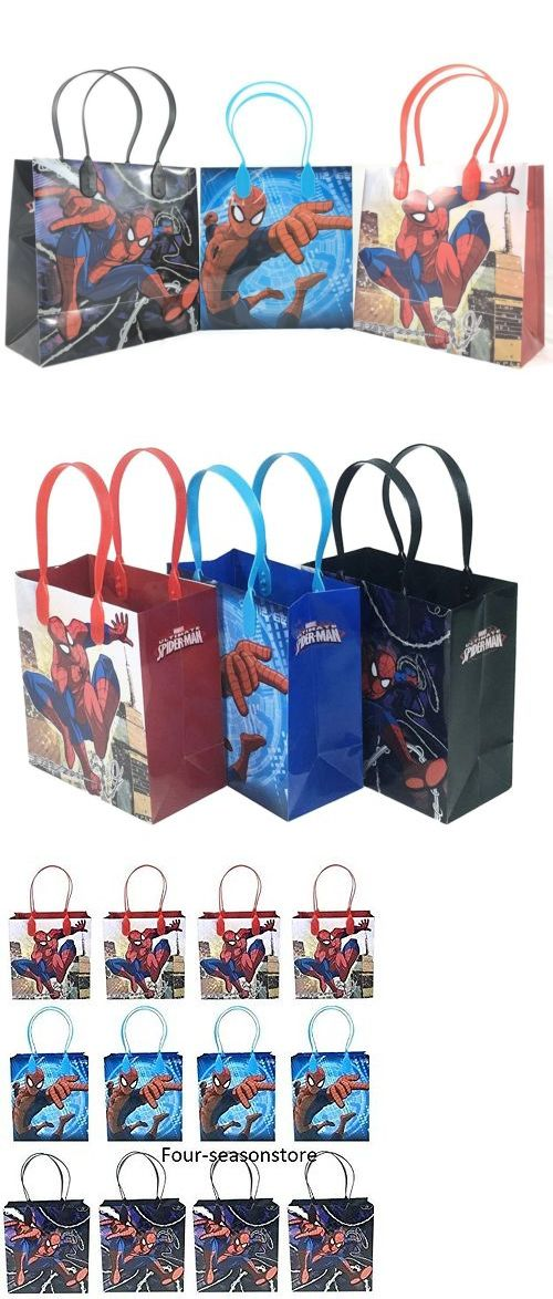 Other Wholesale Toy Lots 26424 12X Marvel Spiderman Blue Red Kid S Party Loot Bags Birthday Goody Fun Gift Bag BUY IT NOW ONLY 1199 On EBay