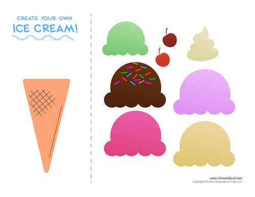 Create Your Own Ice Cream Printable Activity For Kids