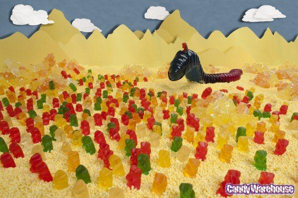 Shai-Hulud! Anyone?... kay...: Gummy Bears, Gummi Worms, Candy, Dune Recreated, Books Worth, Gummi Dune, Gummy Dune, Gummy Worms