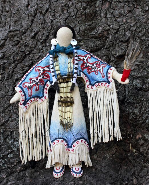 Image detail for -horse doll' traditional plains-style Native American art doll by ...