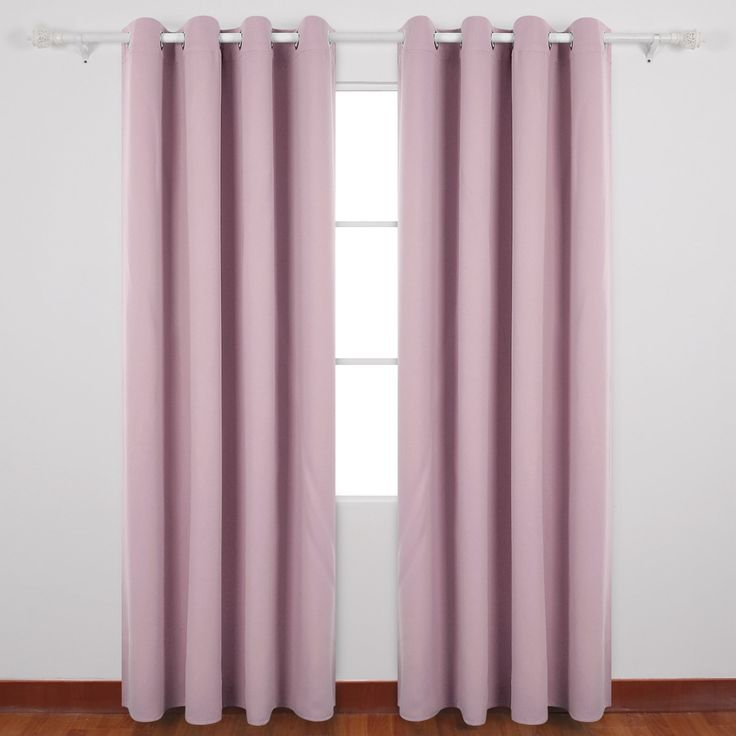 Deconovo Super Soft Solid Thermal Insulated Blackout Curtains For Kids,  Including Two Matching Ties,