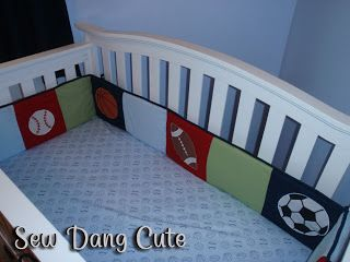 Sew Dang Cute Crafts: Crib Bumper Tutorial