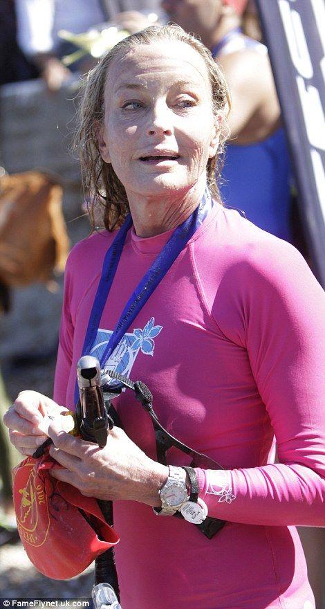 Bo Derek at a swimming marathon in Greece...