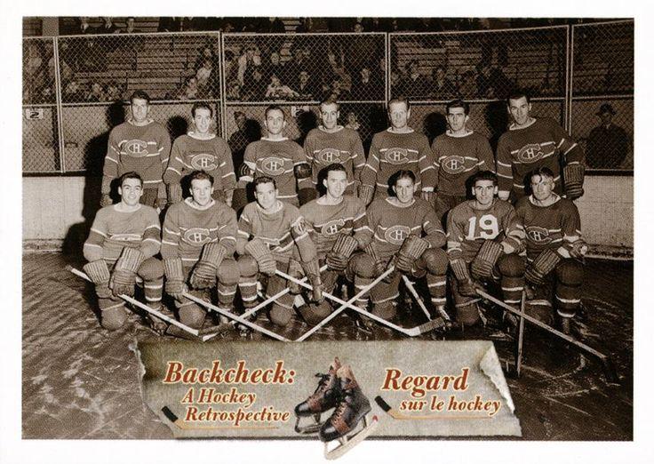 18. Équipe de hockey des Canadiens de Montréal, en octobre 1942.  Les Canadiens de Montréal posent lors d'un entraînement d'avant-saison en octobre 1942. Maurice Richard (rangée du haut, deuxième à droite), recrue prometteuse, est sur le point de signer son premier contrat professionel. #CartesDeHockey