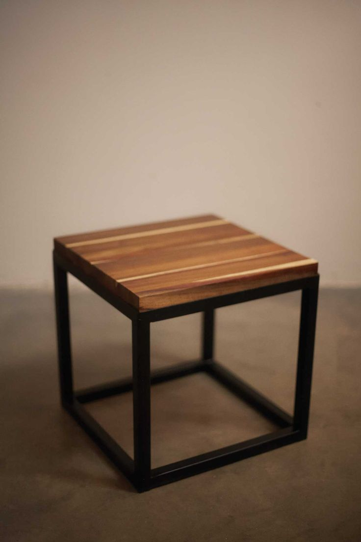 #sidetable #kiaat #steelframe