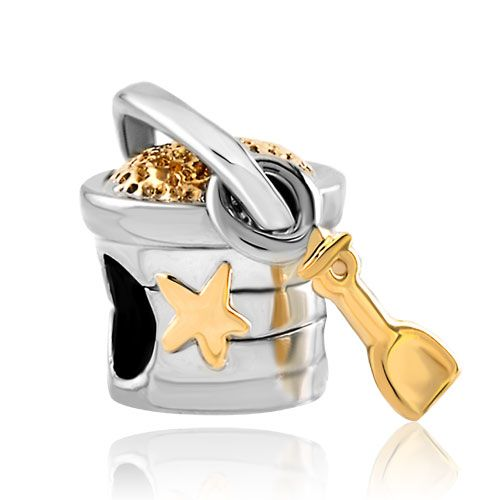 Charms Beads - star bucket and shovel fit all brands two tone plated beads charms bracelets Image.