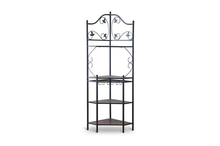 Pomona Wood and Metal Transitional Baker's Rack—Low WL-0470-WI