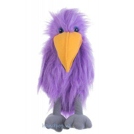 The Puppet Company paarse vogel handpop