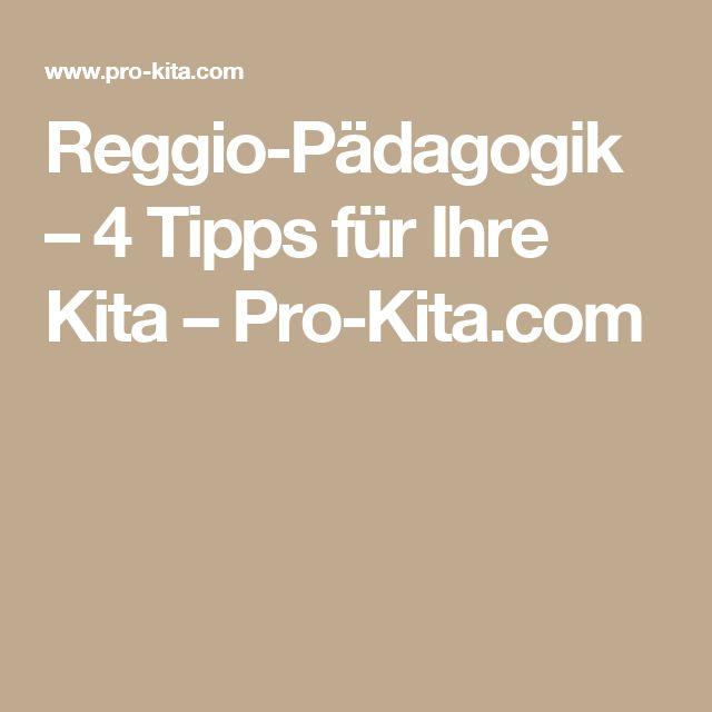 Reggio-Pädagogik – 4 Tipps für Ihre Kita – Pro-Kita.com