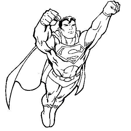 Dessin superman 2 a colorier