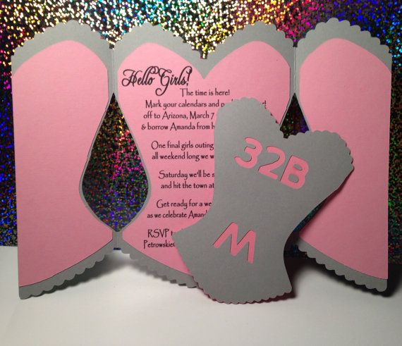 Bachelorette Party Invitation or bridal shower invite with insert
