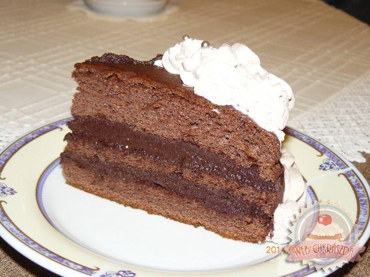Párizsi krémes csokitorta