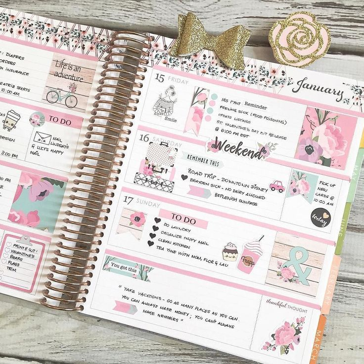 The end of last week in my /erincondren/ life planner. I like mixing…
