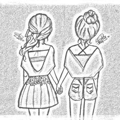 cute easy best friend drawings - Google Search