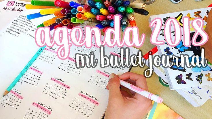 MI AGENDA PARA EL 2018 ♡ BULLET JOURNAL! Dani Hoyos