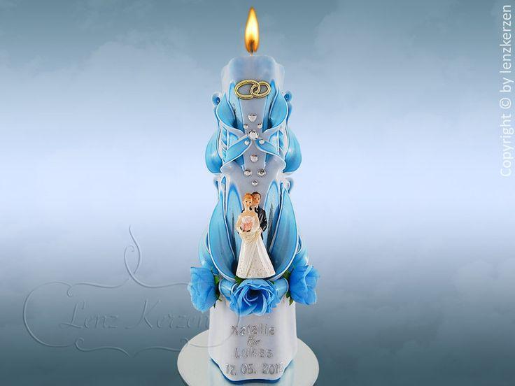 Hochzeitskerzen & Beleuchtung -  Hochzeitskerze   - ein Designerstück von Olga-Lenz bei DaWanda