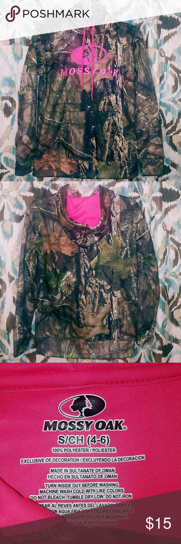 BNWT!! LADIE'S CAMO MOSSY OAK HOODIE - SMALL BNWT!   CREATE YOUR BUNDLE & SAVE!! PICK 3 OR MORE ITEMS FROM MY CLOSET & SAVE, SAVE, SAVE!!!  I USUALLY SHIP WITHIN 24 HOURS. EXCEPT WEEKEND ORDERS WILL BE SHIPPED ON MONDAY!!   PLEASE NOTE: I WILL ALWAYS NOTIFY YOU WHEN YOUR ITEM(S) HAVE BEEN SHIPPED WITH A PICTURE OF THE SHIPPING CONFIRMATION.  THANKS FOR LOOKING! AM7X70 MOSSY OAK Tops Sweatshirts & Hoodies