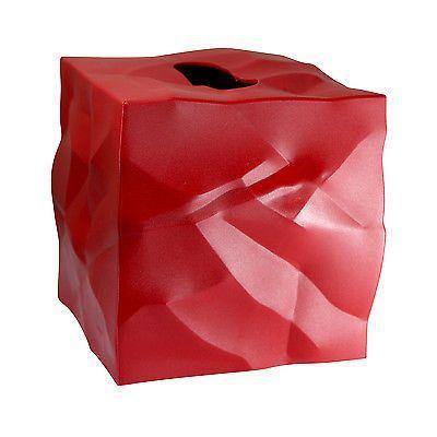 Essey Wipy Cube Tissue Box Holder - Red