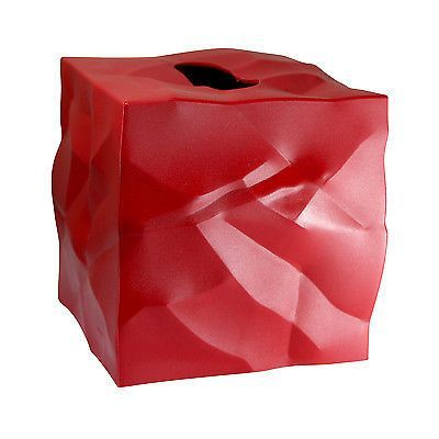 Essey Wipy Cube Tissue Box Holder - Red