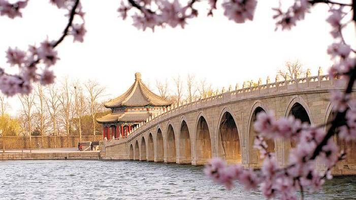 The Summer Palace, Beijing China is the largest and best-preserved imperial garden in China. Its Chinese name, YiHeYuan, translates as 'Garden of Nurtured Harmony' or 'Garden for Maintaining Health and Harmony'.